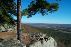 River View - Petit Jean Mountain overlooking Arkansas River and Ada Valley